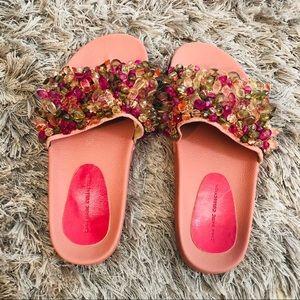 Zara slip on shoes with beads. Sz 38